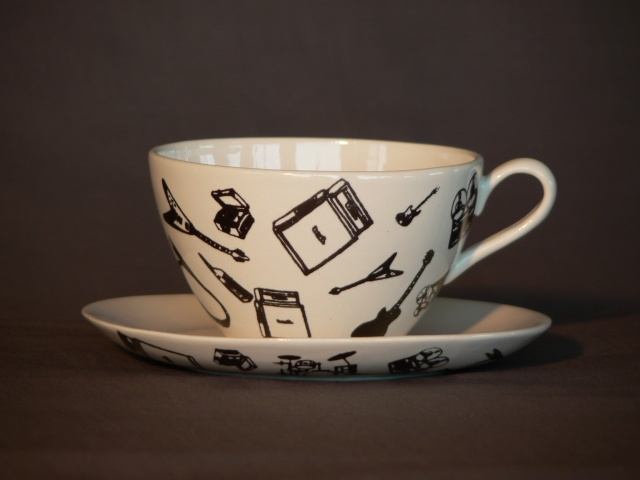 Tea Cup and Saucer - Recording Artist Pattern