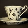 Fancy Teacup and Saucer - Recording Artist Pattern