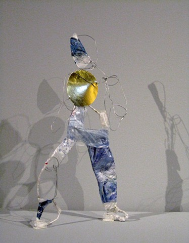 Bodies Without Organs, sculpture, wire, found materials, trash
