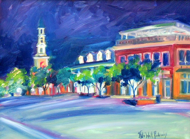 Painting of Franklin Street, Chapel Hill, N.C.