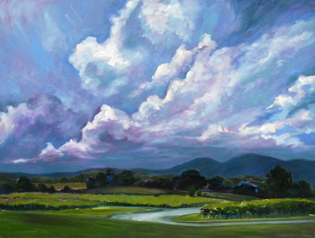 Original oil painting landscape by Katie Wall Podracky