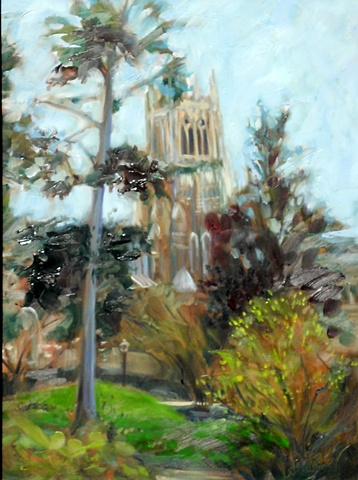 Original oil painting of Duke Chapel by Katie Wall Podracky