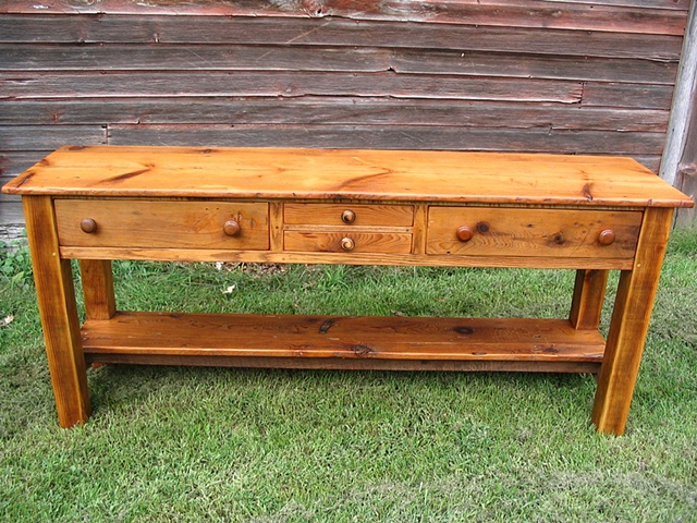 reclaimed lumber wood furniture sideboard salvaged barn