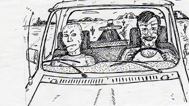 sketchbook drawing pen and ink