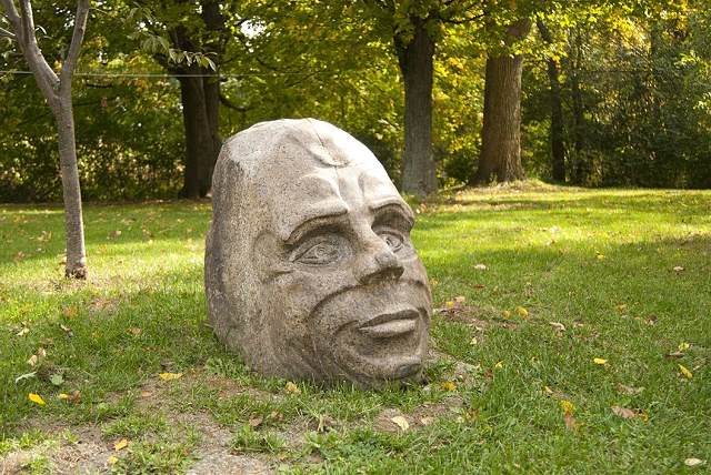 granite head sculpture carving stone large