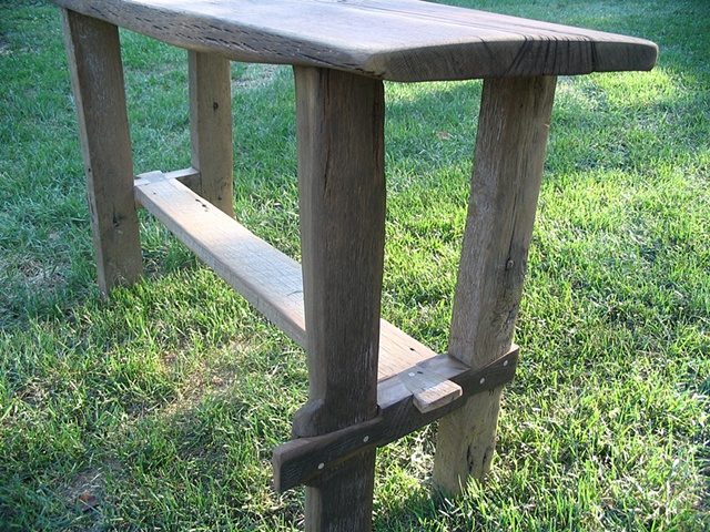reclaimed lumber wood furniture side table