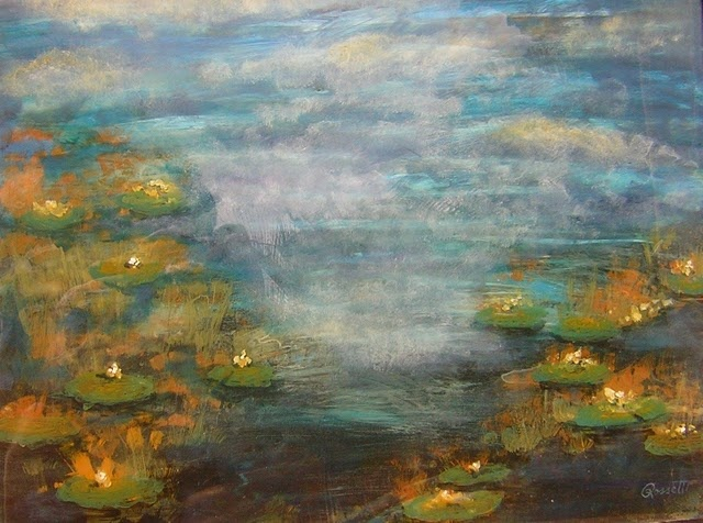 Waterlilies and Mist I