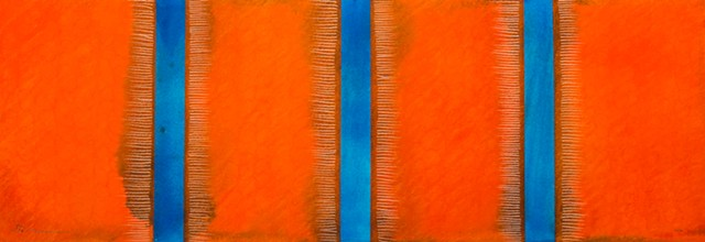 Blues and Oranges painting abstract fine art
