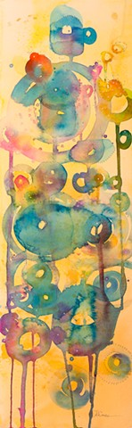 harry potter magical orbs watercolor, abstract painting, fine art