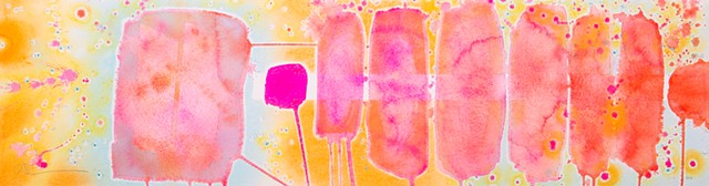 pink popsicles, pink art work