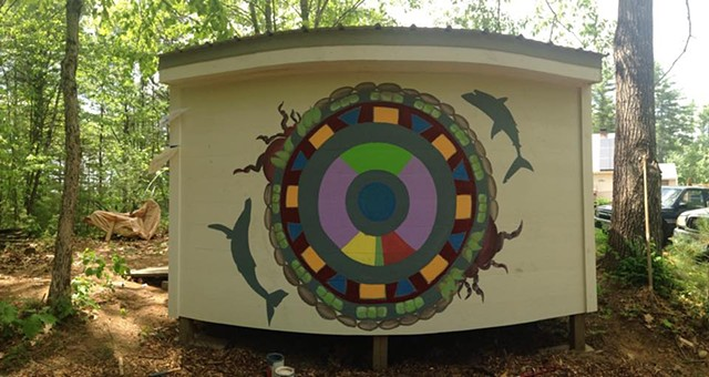 Mural. Collaboration with Emma LaBombard