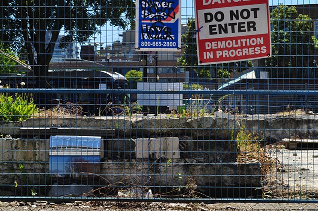 Phat Mart, Kits Point with Demolition: installed view