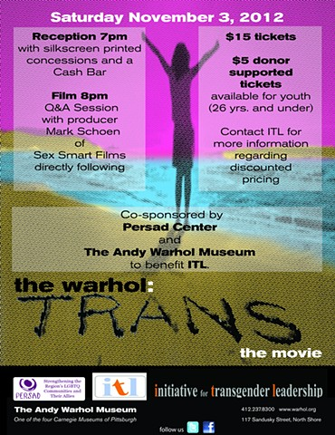Flyer for the Warhol showing of the movie Trans