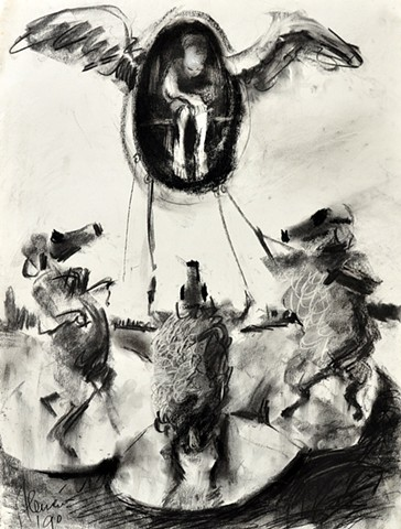 Angels and gas mask sheep, reference drawing