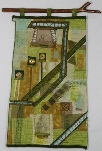 Art quilt Myanmar Burma