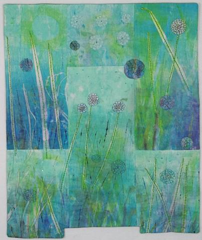 An art quilt marsh
