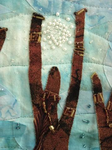 Art quilt goddess
