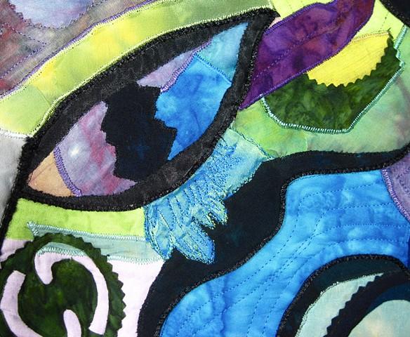 Art quilt eye