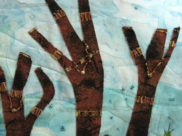 Art quilt goddesses