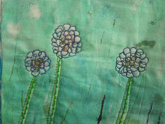 Art quilt wildflowers