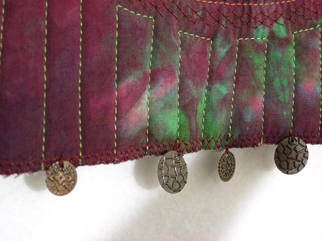 Art quilt metal embellishments