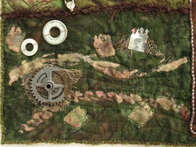 Art quilt gears