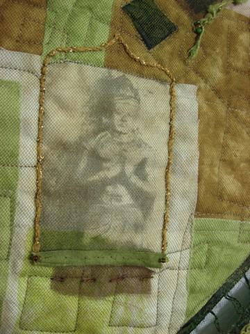 Art quilt Buddha