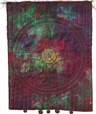 Art quilt dreamcatcher