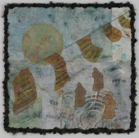 Art quilt prayer flags