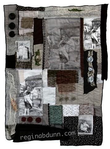 Art quilt grandmother