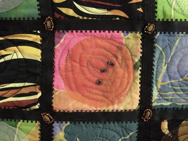 Art quilt black sashing