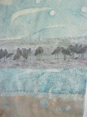 Birds art quilt