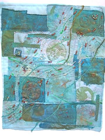 art quilt river