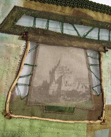 Art quilt pagoda