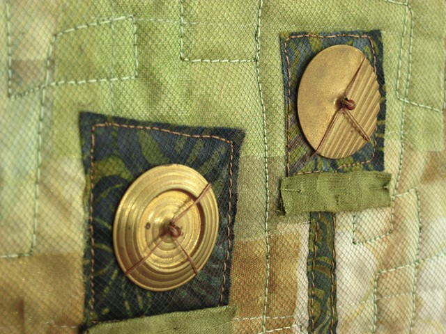 Art quilt metal embellishments