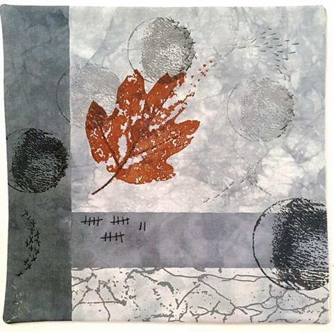 art quilt leaf time changes