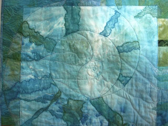 Art Quilt spiral