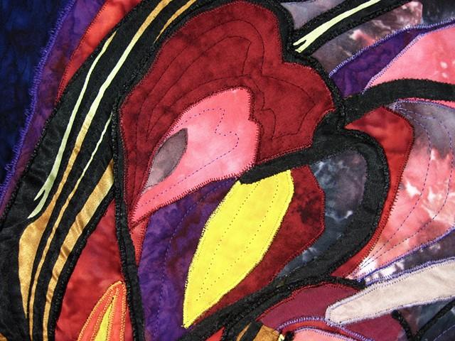 Art quilt heart