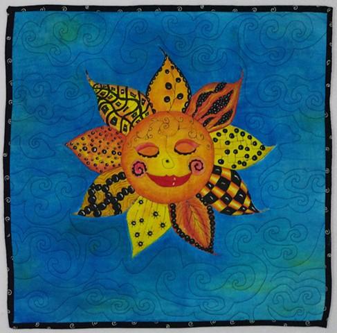 Art quilt sun
