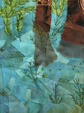 Art quilt swamp