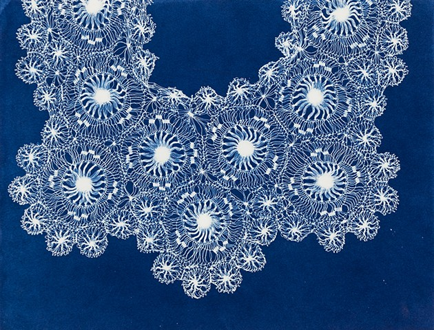 Tangled up in Blue: Lace Cyanotypes