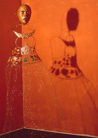 Marina Gutierrez - Conjure Dress / Body Mask - wearable sculpture - Constructing identity as imagined memory