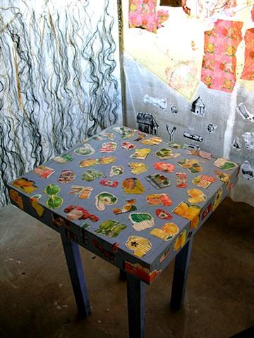 Marina Gutierrez Casita3 - detail table w metal fruit