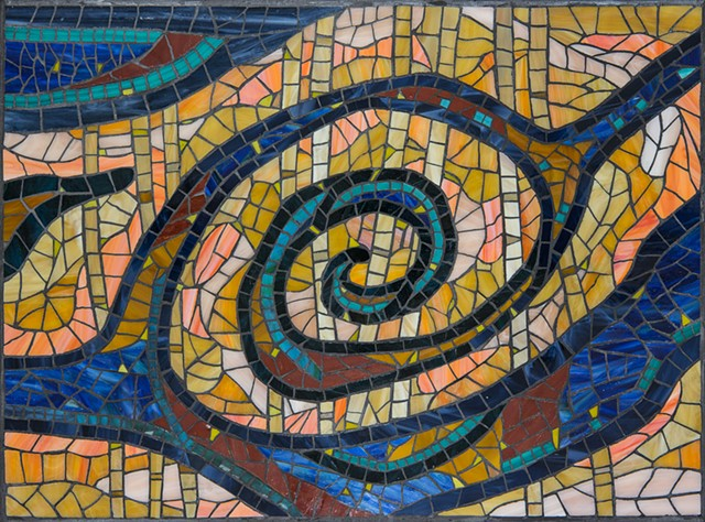 abstract stained glass mosaic art