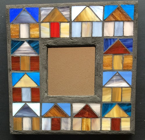 quilt pattern, stained glass mosaic
