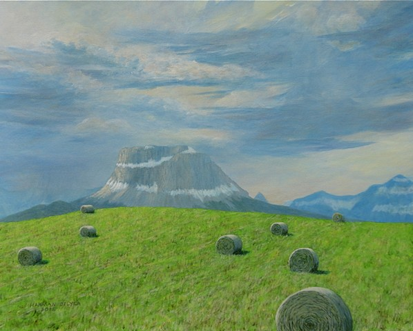 Alberta, Montana, Rocky Mountains, Paintings, art, Canada, prairie