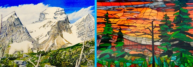 DELYEA  ART  :  Landscape & wildlife paintings & stained-glass mosaic art