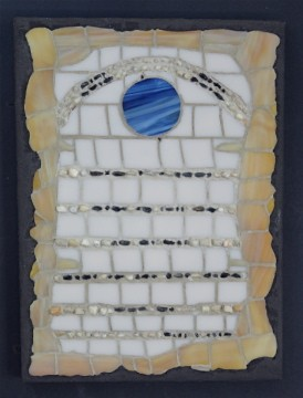 morse code, stained glass, global warming artwork