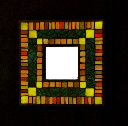 stained-glass mosaic quilt pattern