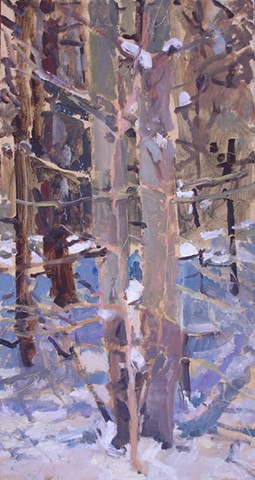 Oil painting from the Vermont woods